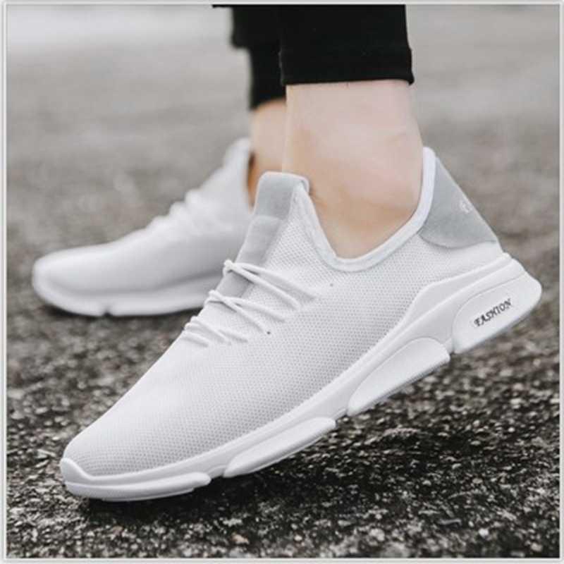 2019 moda yaz erkek vulkanize ayakkabı koşu ayakkabıları erkekler için Sneakers erkek ayakkabısı dantel-up Tenis Masculino