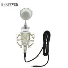 цены Professional BM 8000 Sound Studio Recording Condenser Microphone with 3.5mm Plug Stand Holder for Personal Audio Recording KTV