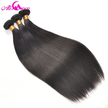 Ali Coco Brazilian Straight Hair Bundles 3pcs/lot 100% Human Hair Bundles No Remy Hair Weave 8-28 inch Natural Color