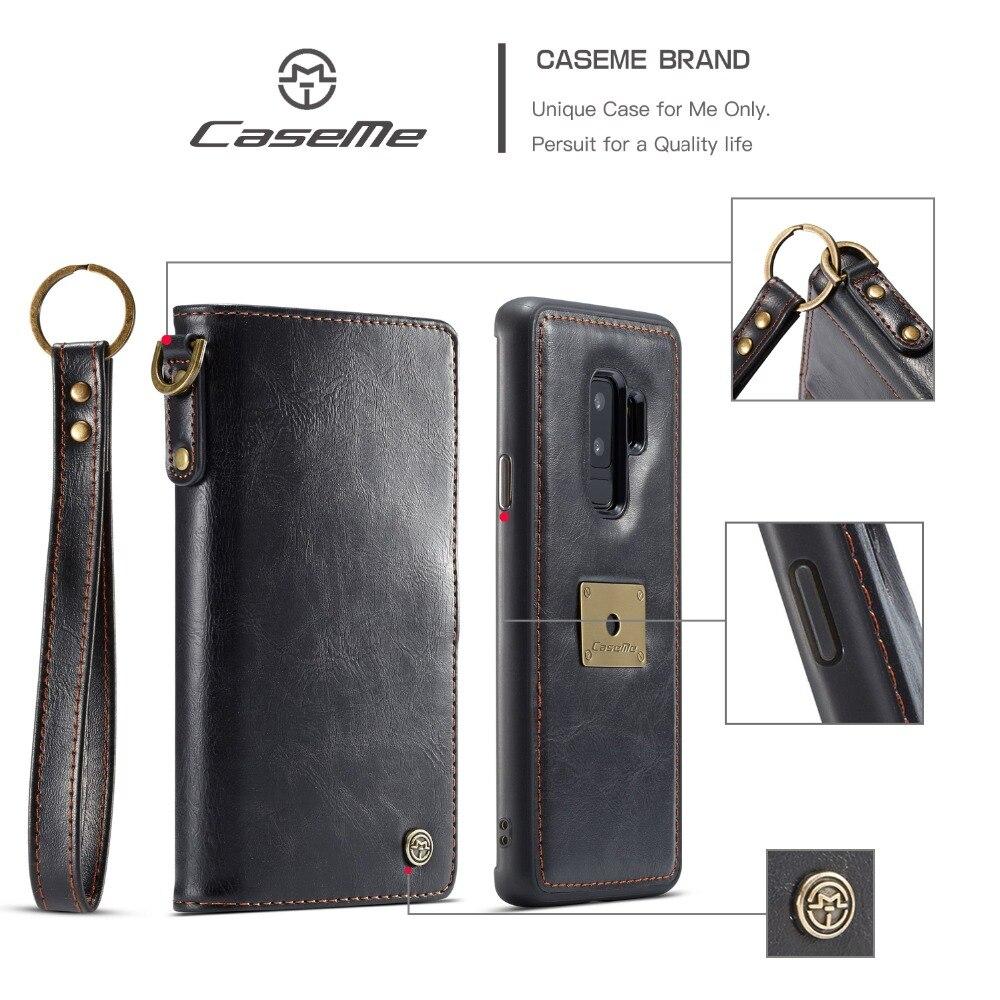Высокое качество и долговечность Телефон чехол для Samsung Galaxy S9 плюс Магнитная съемная 2-в-1 кожаный чехол бумажник для Galaxy S9