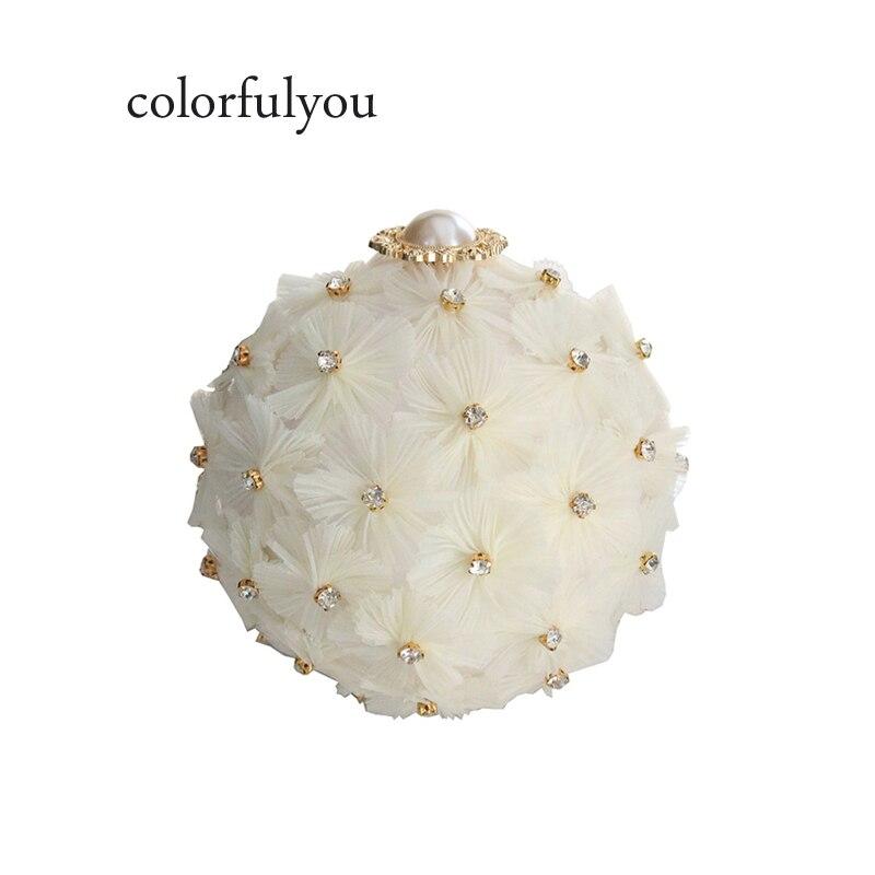 Fleur diamants fleur épaule Messenger sac perle chaîne sac à main 2019 chaud femme bandoulière sacs acrylique petit sac circulaire