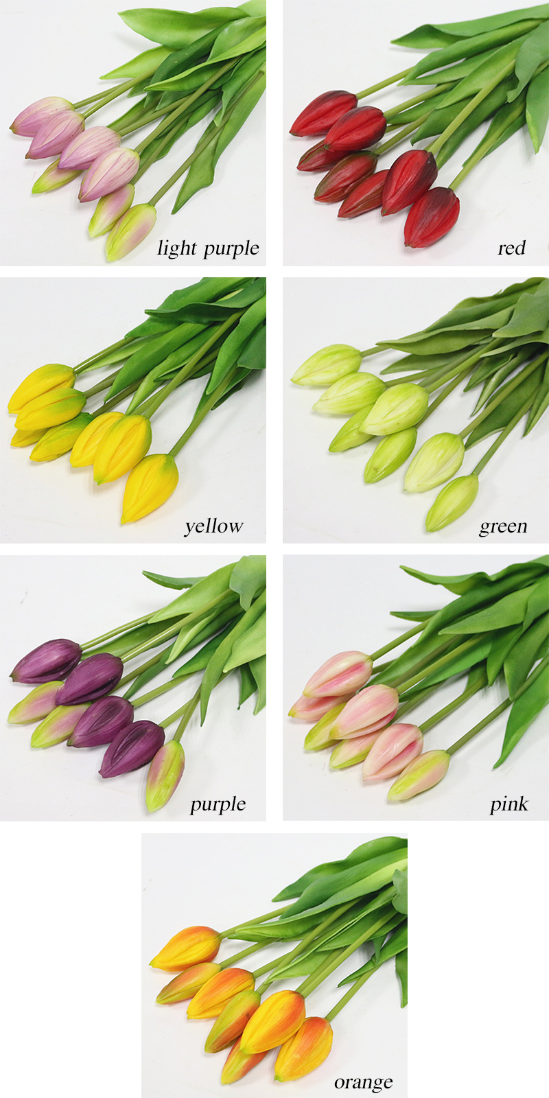 JAROWN Simulation Of Real Tactile Tulip Artificial High Quality Latex Tulip Bouquet Flores For Wedding Decoration Home Decor (38)