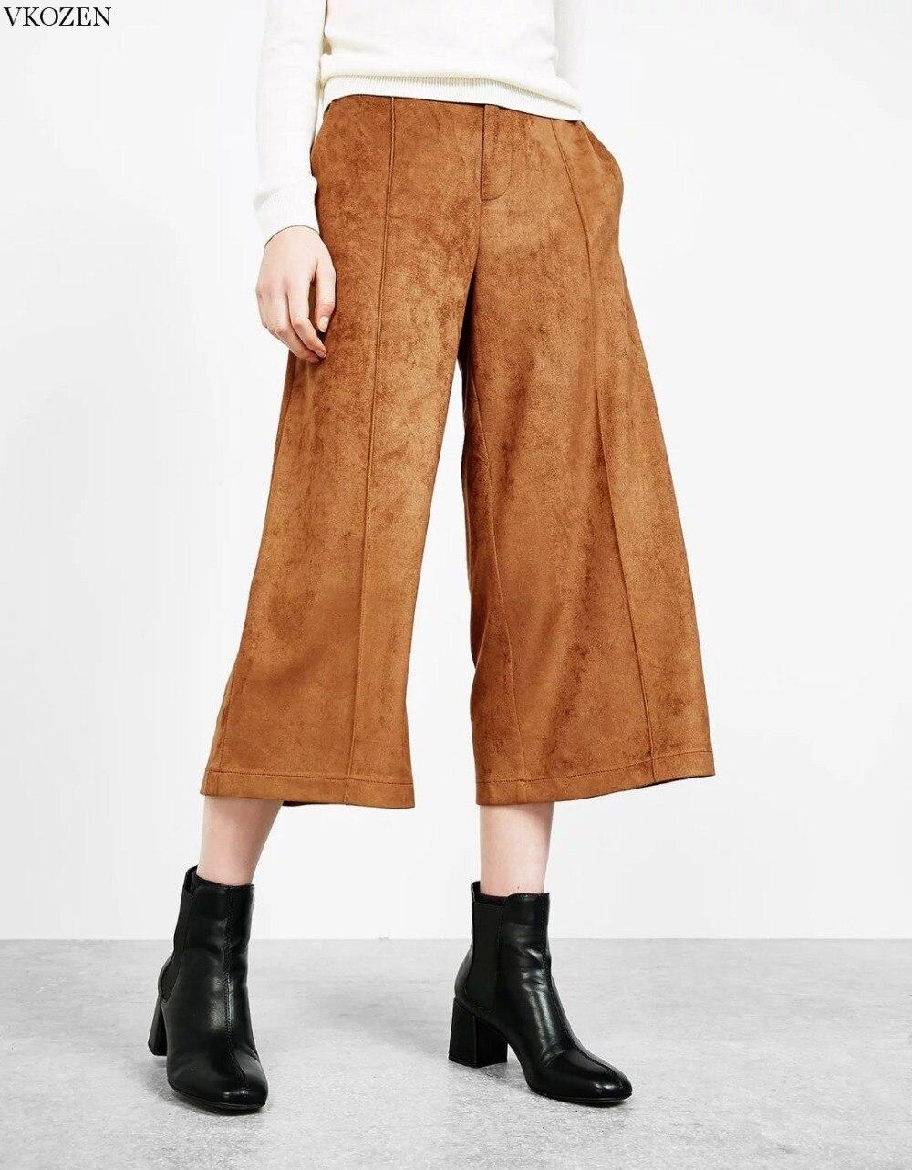 Perfect Womens Juniors Wide Leg Khaki Capri Pants 20471R  Walmartcom