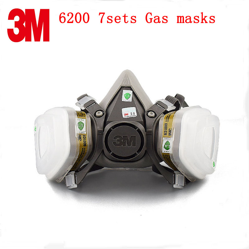 3M 6200 respirator gas mask Genuine suit With 6001 filter 5N11 501 Accessories Set protective mask Efficient chemical gas mask чайник bosch twk 6001