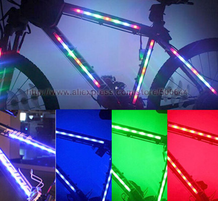 Multi colors bicycle decorative 3 mode 14 led spoke light article multi colors bicycle decorative 3 mode 14 led spoke light article bike led light strip aloadofball Image collections