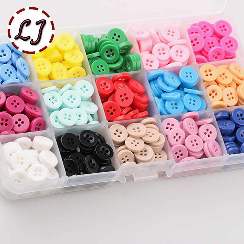 New 100pcs/lot small Resin <font><b>Button</b></font> Round Four Holes <font><b>10mm</b></font>( 2/5