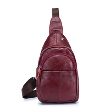 Elegant Compact Durable Genuine Leather Sling Bag