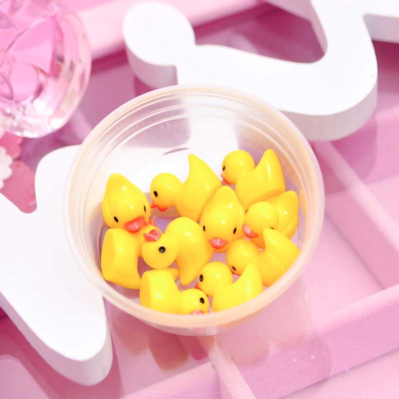 10pcs/box <font><b>Slime</b></font> Charms Toy Resin <font><b>Duck</b></font> Supplies Addtion Filler For Fluffy Cloud Clear <font><b>Slime</b></font> DIY Crafts additives for <font><b>slimes</b></font> image