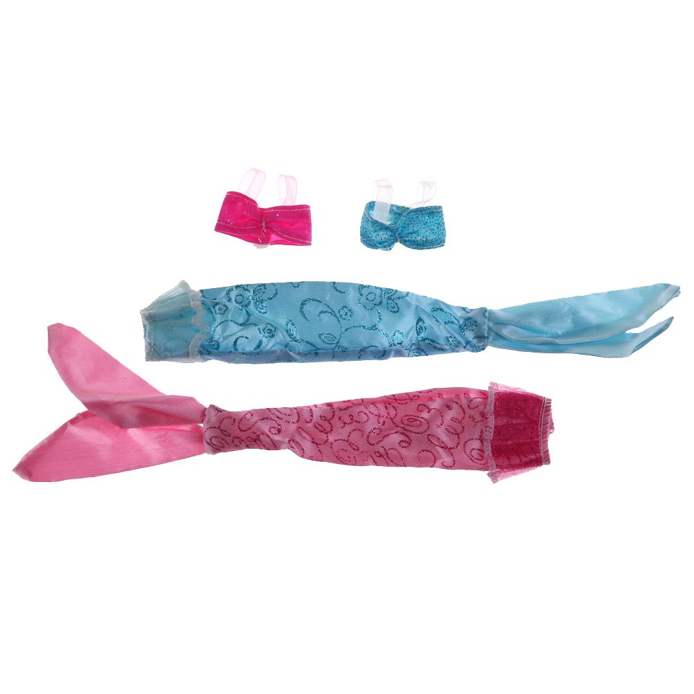 1Set DIY Fashion Mermaid Tail Dress Dolls Party Dress Gown Skirt ...