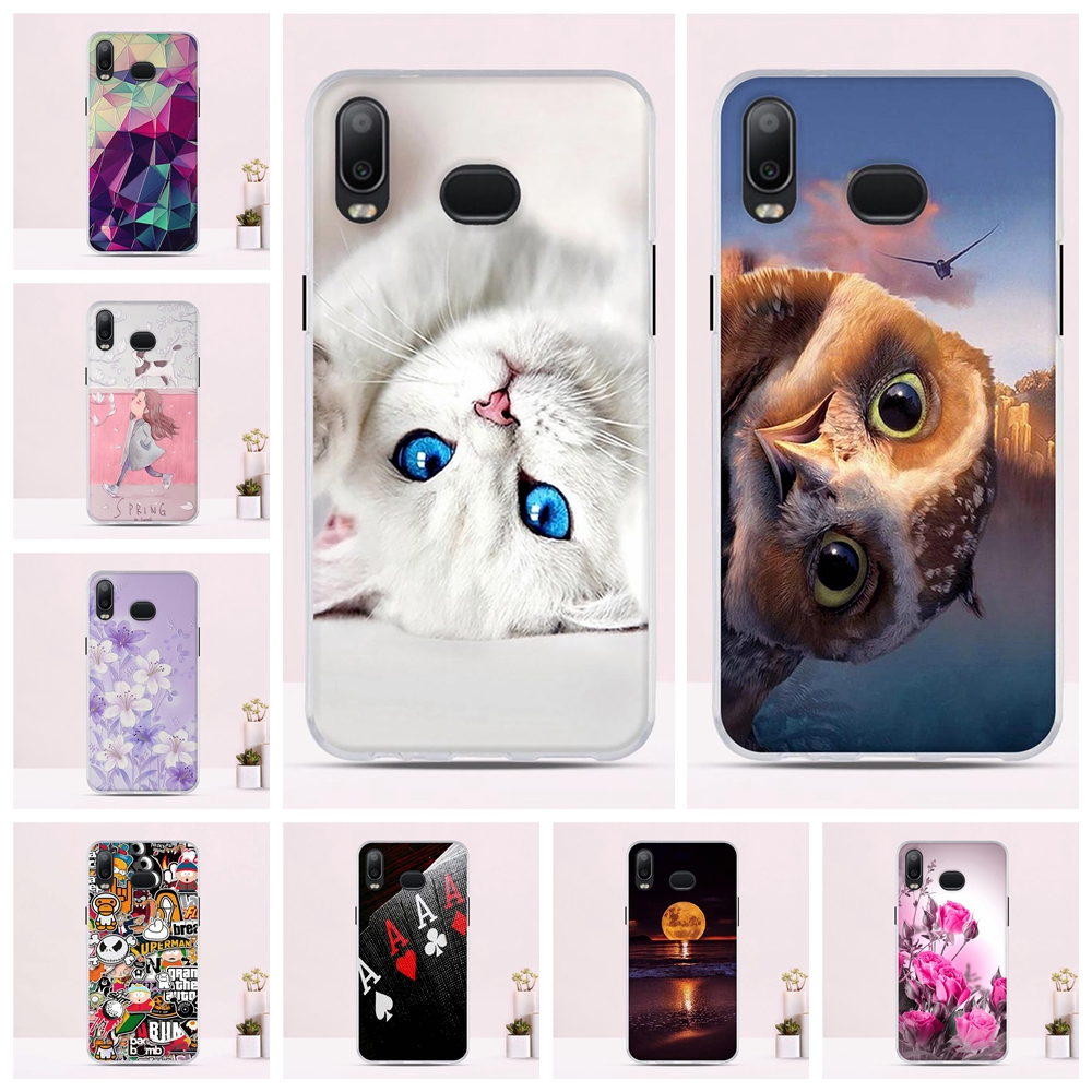 Phone Case For Samsung Galaxy A6s Case 6.0 Soft TPU For Samsung Galaxy A6s Cover Print Painted Cute Funda For Samsung A6s Case