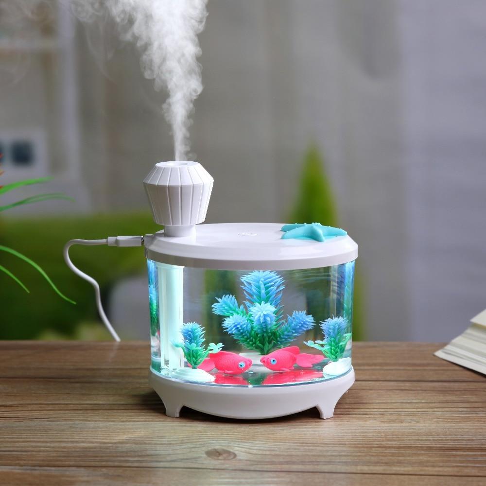 Aquarium fish tank mist maker - Fish Tank Led Light Humidifier Usb Home Humidifier Air Diffuser Purifier Atomizer Difusor De Aroma Mist