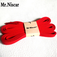 Mr.Niscar 2 Pair Men Women Casual Sneaker Flat Shoelaces Red Fashion Sport Athletic Shoe Laces 100cm 120cm 140cm 160cm 180cm