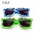 Minecraft Enredadera de Sol Gafas de Sol Gafas 6-15 Y Niños Novedad Mosaico Gafas Moda Hombres Mujeres Niños Niñas de Píxeles Eyewares