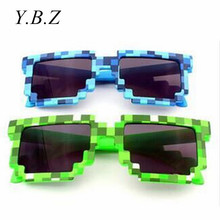 Minecraft Sun Glasses 6-15 Y Kids Sunglasses Creeper Glasses Novelty Mosaic Goggles Fashion Men Women Boys Girls Pixel Eyewares