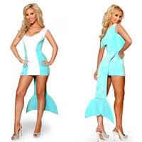 Vestido de Sirena de Halloween Cosplay Princesa Delfín Nigntclub Bar Etapa Cosplay Adulto Atractivo de Las Mujeres Vestidos