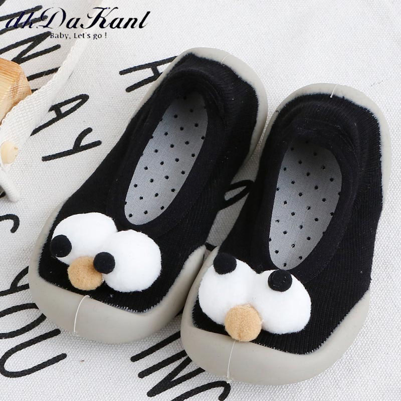 dkDaKanl Autumn and Winter Baby Short Socks With Cute 3D Big Eye Socks Non Slip Newborn Toddler Shoes Indoors Children Sock