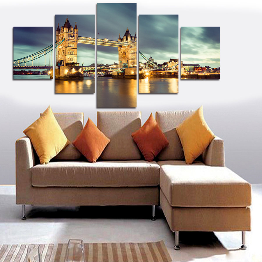 5 Panel Lukisan Kanvas Wall Art Gambar Mewarnai