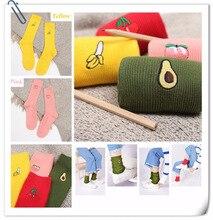 new Harajuku cotton socks fashion cute  Cartoon fruit pattern piles pile fitness casual tube