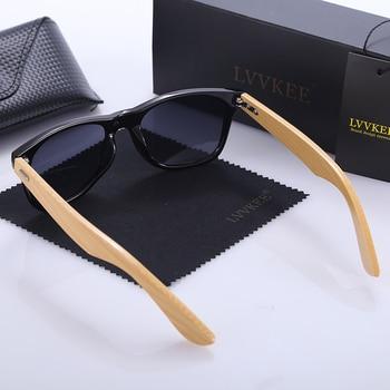 LVVKEE Top quality Brand Design Classic Rivet wood Mens/Womens sunglasses handmade bamboo Outdoors traveling sun glasses UV400 3