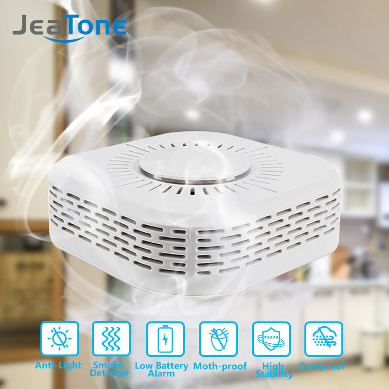 Wireless 433 Mhz Smoke Alarm Detector High Sensitive Security Fire Protection Sensor For Home Factory Security Alarm System