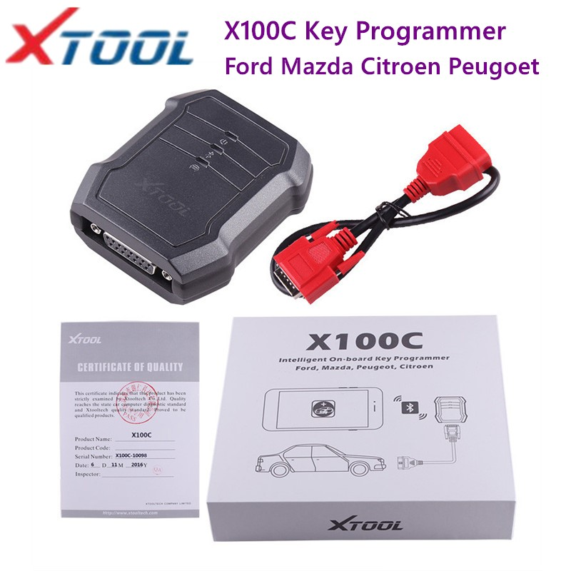 2019 Xtool X100C Auto Key Programmer Tool For Android IOS 4 in 1 Pin Code Reader English Original Update Online