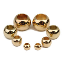 LOULEUR 100pcs 4 6 8 10 12mm Big Hole CCB Beads Gold Rhodium Color Spacer For Diy Jewelry Making Materrial (not metal )
