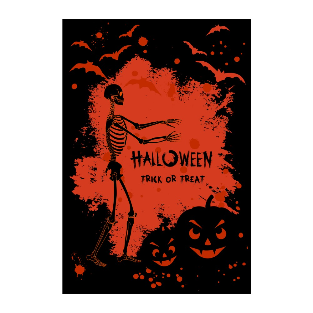 halloween garden flags treack or treat designed with double sided