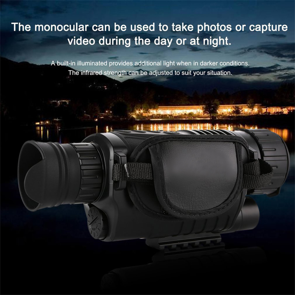 5X Night-Vision Monocular Infrared Night Vision Telescope Darkness Time Navigation peep inside night time