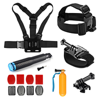 SHOOT Action Cam Accesoires Set Head Chest Strap Float Grip For GoPro Hero 5 4 3