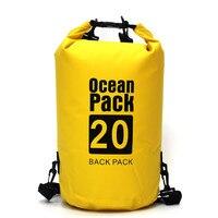 15L/20L/30L ПВХ водонепроницаемый плавательный мешок рюкзак хранения сухой мешок для каякинга катание на лодках Кемпинг пеший Туризм каноэ Рыба...