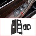 4 шт.  карбоновый стиль  АБС-пластик  хром  автомобильный переключатель двери  окна  подъемная рама для BMW  новая серия 5 G30 2017 2018  автомобильные ...