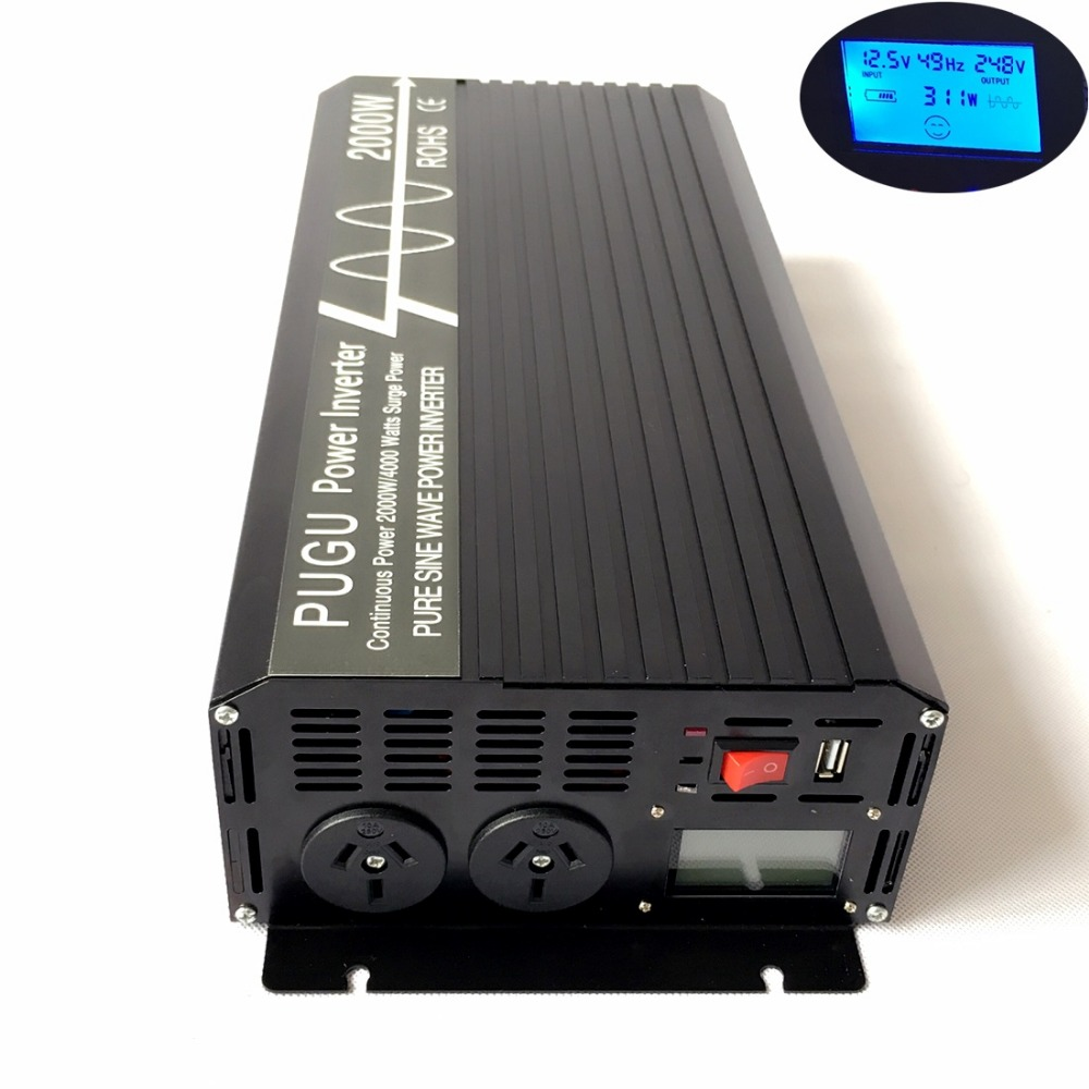 Electrical Equipments & Supplies Capable 2000w Pure Sine Wave Solar Power Inverter 12v/24v/48 Dc To 240v Ac With Lcd Display Usb Port For Home Use Australian Socket