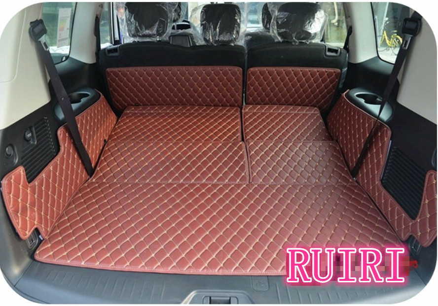 Nissan Patrol 2018 Price >> Free shipping! Special trunk mats for Nissan Patrol Y62 7 seats 2018 2011 waterproof cargo liner ...