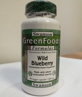 Free shipping green foods wild blueberry made with whole wildcrafted berries 250 mg 90 pcs
