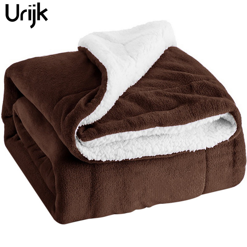 Urijk 1Pc Soft Fleece Blanket Sofa Blanket Winter Warm Comfortable Flannel Blankets For Sofa Bed Cars Portable Home Christmas