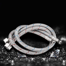 Stainless Steel Hot and Cold Water Pipe Red Blue Braided G1 / 4 Interface Points Faucet Accessories