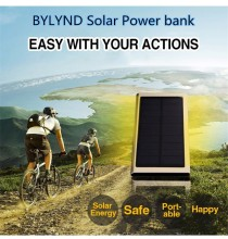 Universal 20000mAh Solar Power Bank Portable External Battery Pack Dual USB solar Charger Backup Power For All USB Devices
