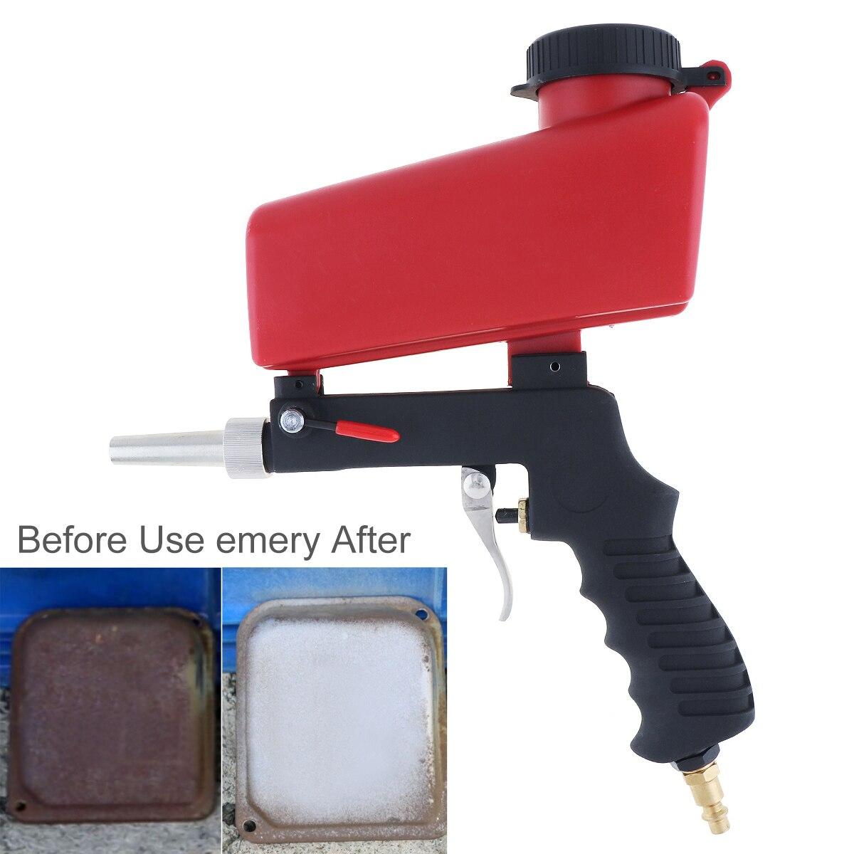 Mão portátil Held Pneumática Pistola de Jateamento de Areia Jateamento Pote com Interruptor de Ajuste de Fluxo Superior e 1/4