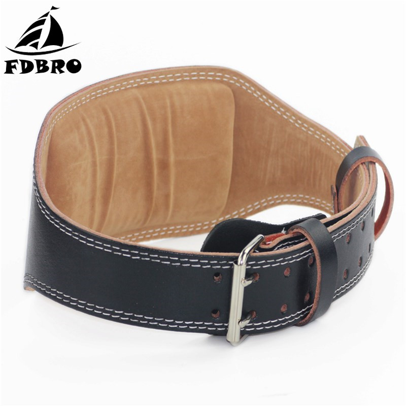 FDBRO Weight Lifting Belt Leather Training Squat Belts Dumbbell Barbell Belt Gym Fitness Crossfit Powerlifting Lumbar Protection new sport leather weight belt gym waist support power belts training fitness protective belt for free shipping kylin sport