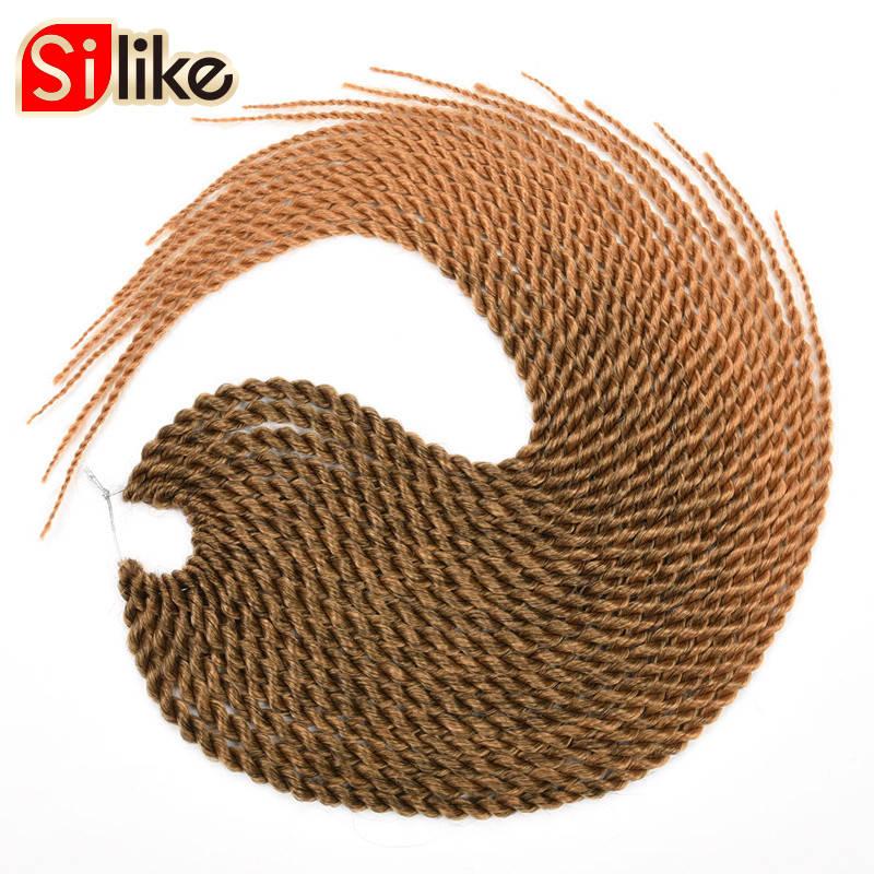 Silike 22 ίντσες Ombre Brown Ροζ Crotchet Πένσες - Συνθετικά μαλλιά - Φωτογραφία 3