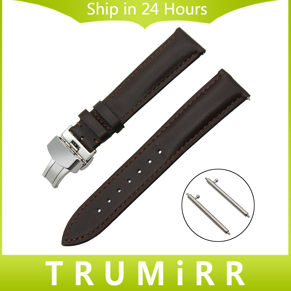Quick Release Watch Band 1st Layer Genuine Leather for TAG Heuer Carrera Butterfly Buckle Strap Wrist Bracelet 18mm 20mm 22mm цена