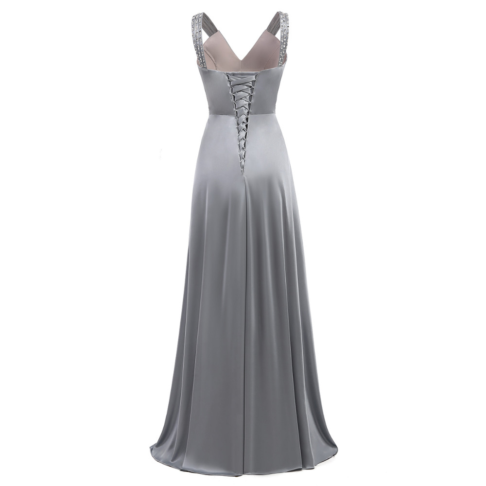 Women Sleeveless Sexy A-Line Elegant Wedding Party Formal Gowns Long Evening Dress 2018 3