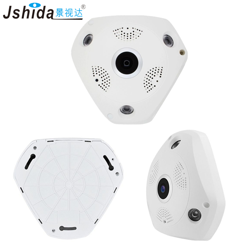 1080P Fisheye VR Panorama 360 Camera WIFI Night Vision Home Security Camera Wireless Intercom IPH2002-W