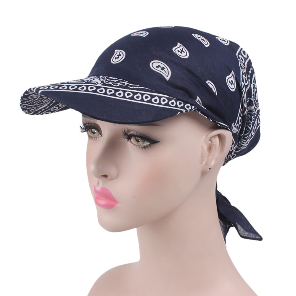 2019 Women India Muslim Retro Floral Cotton Towel Cap Brim Turban Baseball Hat Wrap Summer Sun Hats For Women  Hat Wholesale 3.8