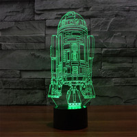 Modern Star Wars Star Wars Warship 3D Light Touch Switch Colorful Vision Stereo Light Illusion Lamp
