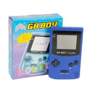 """Image 5 - GB ילד צבע צבע כף יד משחק נגן 2.7 """"נייד קלאסי משחק קונסולת קונסולות עם תאורה אחורית 66 משחקים מובנים"""
