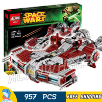 957pcs Space Wars Jedi Defender Class Cruiser Universe Starship 05085 Model Building Block Toy Bricks Games