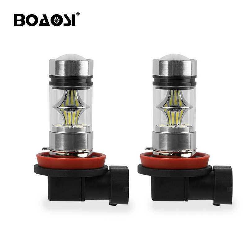 2pcs Cree led chips H8 H11 3030SMD White cars Fog Head lights Bulb auto Lamp Vehicles Signal Tail car light 9005 9006 led