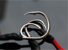 JSFUN 4pcs Stainless Steel Jigging Spoon Fishing Hook With PE Line Saltwater Jig Assist Fishhook For Sea Fishing 3/0-5/0 FH68
