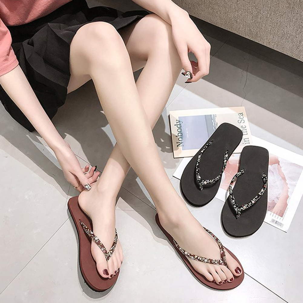 Fashion Faux Leather Summer Slippers Outdoor Indoor Flip Flops Beach SandalsFashion Faux Leather Summer Slippers Outdoor Indoor Flip Flops Beach Sandals
